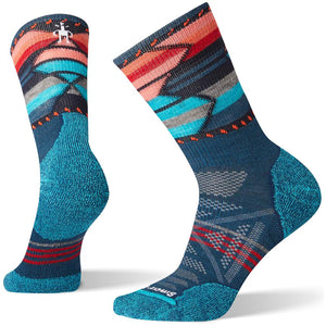 Women's PhD Outdoor Light Pattern Hiking Mid Crew Socks-Smartwool-Deep Marlin-L-Uncle Dan's, Rock/Creek, and Gearhead Outfitters