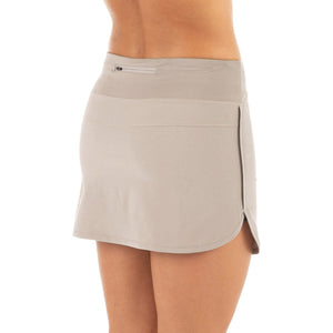 Free Fly Women's Bamboo-Lined Breeze Skort-WBZS_Silver Stone
