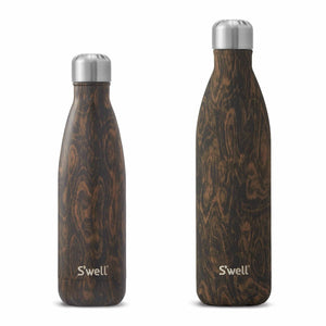 Wood Insulated Water Bottle 17 oz-S'well-Wenge Wood-Uncle Dan's, Rock/Creek, and Gearhead Outfitters