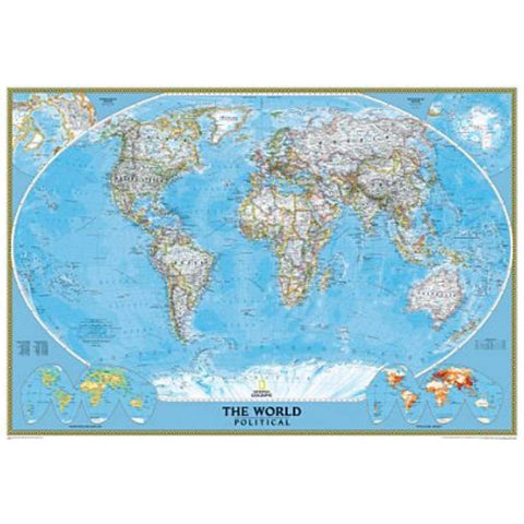 World Classic Map (Enlarged, Tubed)-National Geographic Maps-Uncle Dan's, Rock/Creek, and Gearhead Outfitters