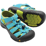 Big Kids Newport H2 Sandal-KEEN-Hawaiian Blue Green Glow-6-Uncle Dan's, Rock/Creek, and Gearhead Outfitters