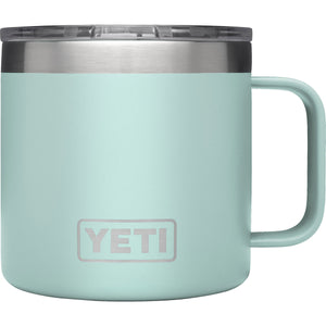 Rambler 14 oz Mug with Standard Lid-Yeti-Seafoam-Uncle Dan's, Rock/Creek, and Gearhead Outfitters