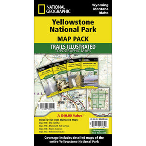 Yellowstone National Park [Map Pack Bundle]-National Geographic Maps-Uncle Dan's, Rock/Creek, and Gearhead Outfitters