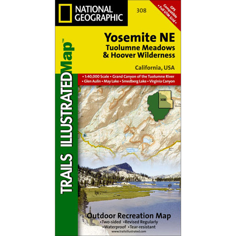 Yosemite NE: Tuolumne Meadows And Hoover Wilderness-National Geographic Maps-Uncle Dan's, Rock/Creek, and Gearhead Outfitters