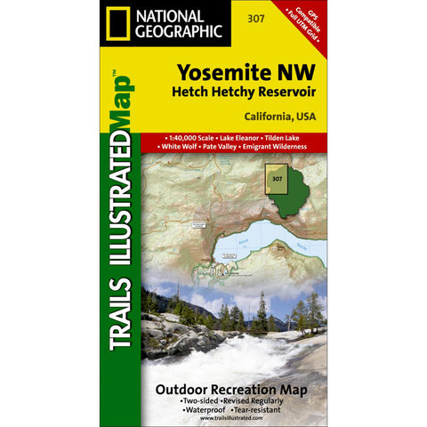Yosemite NW: Hetch Hetchy Reservoir-National Geographic Maps-Uncle Dan's, Rock/Creek, and Gearhead Outfitters