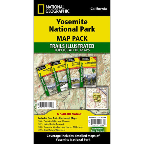 Yosemite National Park [Map Pack Bundle]-National Geographic Maps-Uncle Dan's, Rock/Creek, and Gearhead Outfitters