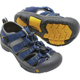 Big Kids Newport H2 Sandal-KEEN-Blue Depths Gargoyle-1-Uncle Dan's, Rock/Creek, and Gearhead Outfitters
