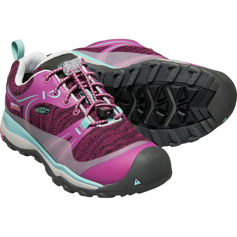 Big Kids Terradora Waterproof Low Hiking Shoe-KEEN-Boysenberry Red Viole-1-Uncle Dan's, Rock/Creek, and Gearhead Outfitters