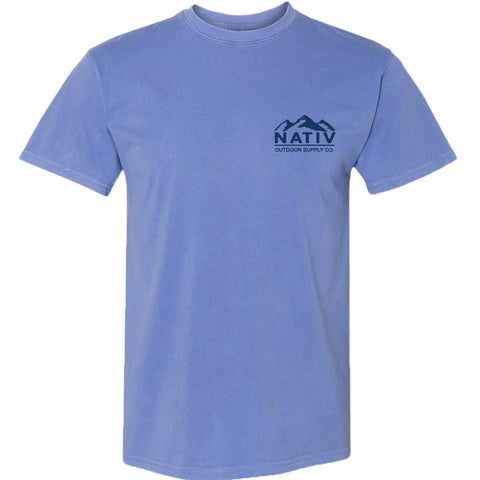 Yukon Short Sleeve Tee-Nativ-Peri Blue-L-Uncle Dan's, Rock/Creek, and Gearhead Outfitters