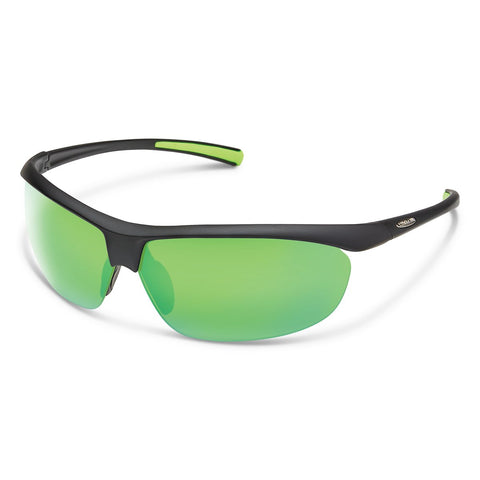Zephyr Sunglasses (Medium Fit)-Suncloud-Matte Black/Polarized Green Mirror-Uncle Dan's, Rock/Creek, and Gearhead Outfitters