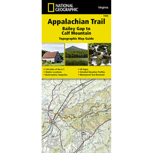 Appalachian Trail Map, Bailey Gap to Calf Mountain [Virginia]-National Geographic Maps-Uncle Dan's, Rock/Creek, and Gearhead Outfitters