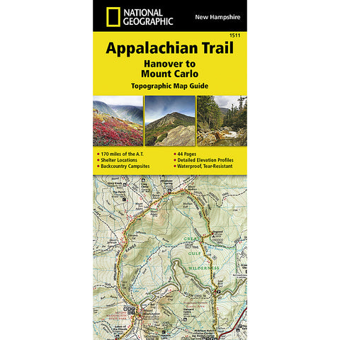 Appalachian Trail Map, Hanover to Mount Carlo [New Hampshire]-National Geographic Maps-Uncle Dan's, Rock/Creek, and Gearhead Outfitters