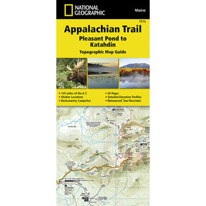 Appalachian Trail Map, Pleasant Pond to Katahdin [Maine]