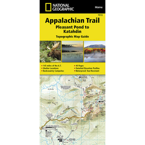 Appalachian Trail Map, Pleasant Pond to Katahdin [Maine]-National Geographic Maps-Uncle Dan's, Rock/Creek, and Gearhead Outfitters