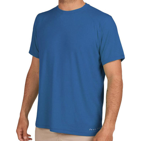 Men's Bamboo Motion Tee-Free Fly-Offshore Blue-S-Uncle Dan's, Rock/Creek, and Gearhead Outfitters
