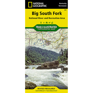 Big South Fork National River and Recreation Area Map-National Geographic Maps-Uncle Dan's, Rock/Creek, and Gearhead Outfitters