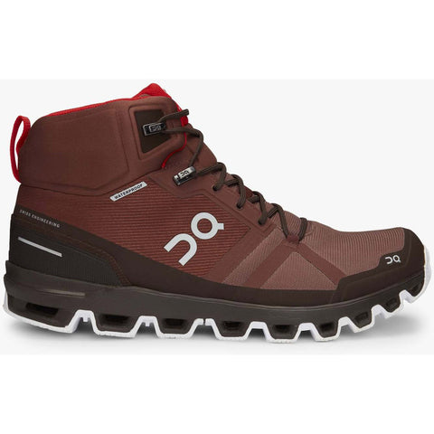 Men's Cloudrock Waterproof-On Running-Cocoa | Red-10-Uncle Dan's, Rock/Creek, and Gearhead Outfitters