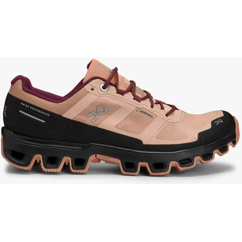 Women's Cloudventure Waterproof-On Running-Rosebrown | Mulberry-7-Uncle Dan's, Rock/Creek, and Gearhead Outfitters