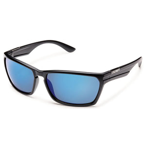 Cutout Sunglasses (Medium Fit)-Suncloud-Matte Black/Polarized Blue Mirror-Uncle Dan's, Rock/Creek, and Gearhead Outfitters