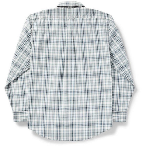 Filson Men's Long Sleeve Feather Cloth Shirt-11010761_Light Blue/Gray/White Plaid
