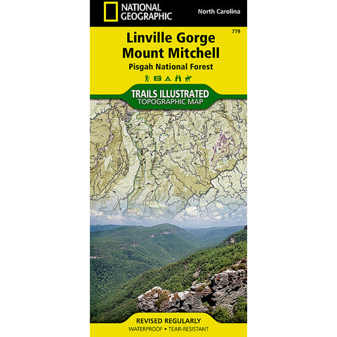 Linville Gorge, Mount Mitchell [Pisgah National Forest] Map-National Geographic Maps-Uncle Dan's, Rock/Creek, and Gearhead Outfitters