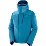 Men's Storm Season Jacket-Salomon-Lyons Blue/Fjord Blue-S-Uncle Dan's, Rock/Creek, and Gearhead Outfitters
