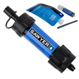 Mini Water Filtration System-Sawyer-Blue-Uncle Dan's, Rock/Creek, and Gearhead Outfitters