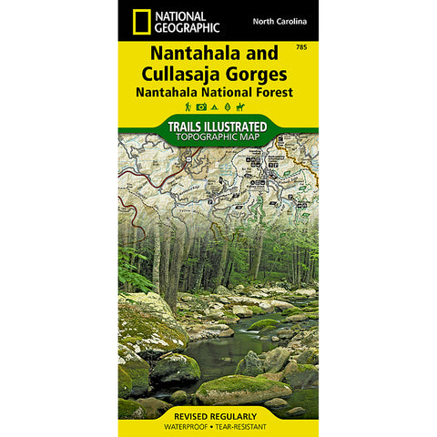Nantahala and Cullasaja Gorges [Nantahala National Forest] Map-National Geographic Maps-Uncle Dan's, Rock/Creek, and Gearhead Outfitters