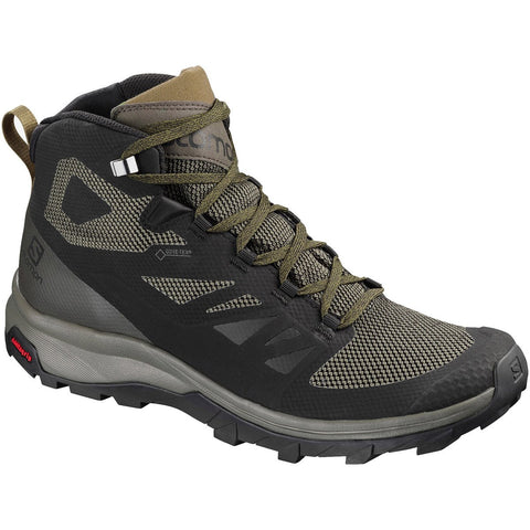 Men's OUTline Mid GTX-Salomon-Black/Beluga/Capers-10-Uncle Dan's, Rock/Creek, and Gearhead Outfitters
