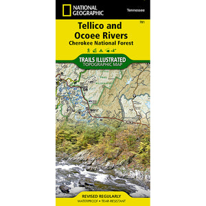 Tellico and Ocoee Rivers [Cherokee National Forest] Map-National Geographic Maps-Uncle Dan's, Rock/Creek, and Gearhead Outfitters