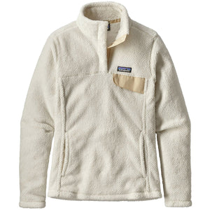 Women's Re-Tool Snap-T Fleece Pullover-Patagonia-Raw Linen - White X-Dye-XS-Uncle Dan's, Rock/Creek, and Gearhead Outfitters