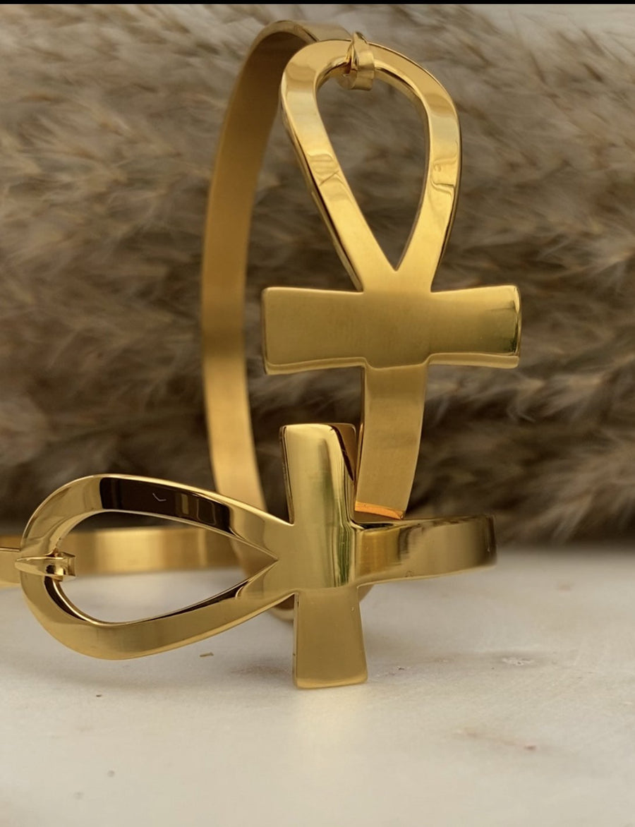 Ankh Bangle - Egyptian Jewlery | Shedeanjewels