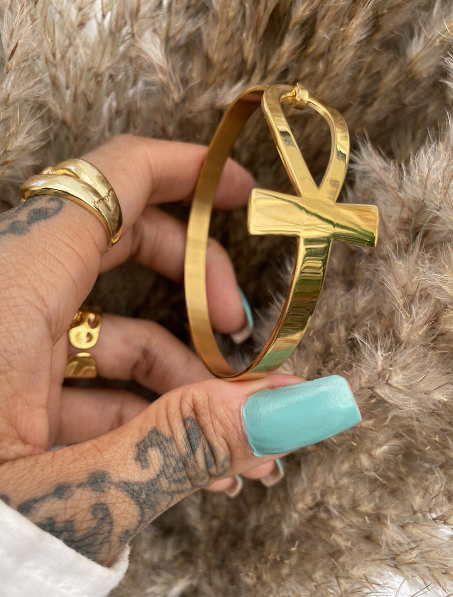 Ankh Bangle - Shedean Jewelz