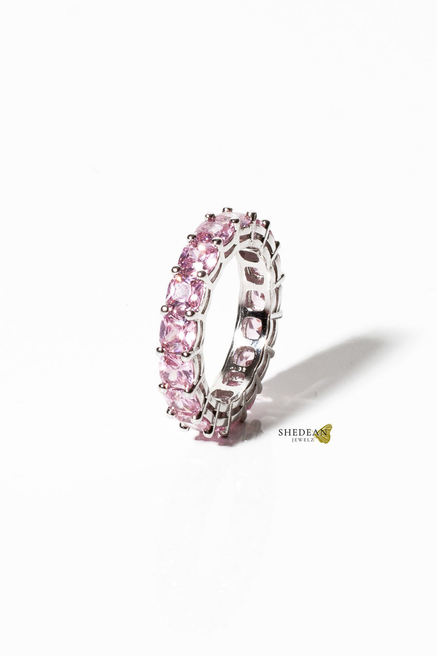 Pink Square Cut Band - Shedean Jewelz