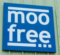 moo free factory sign