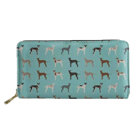 Mint Greyhound Clutch Purse