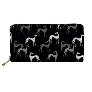Black Greyhound Clutch Purse - Seaside Greyhounds Store
