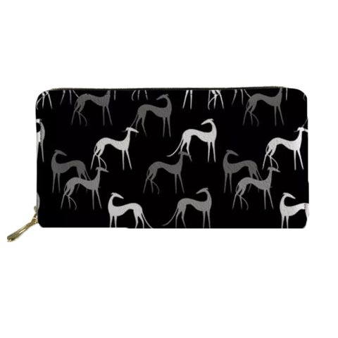 Black Greyhound Clutch Purse