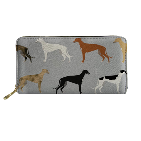 Grey Greyhound Clutch Purse - Seaside Greyhounds Store
