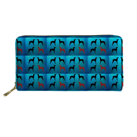 Blue Greyhound Clutch Purse