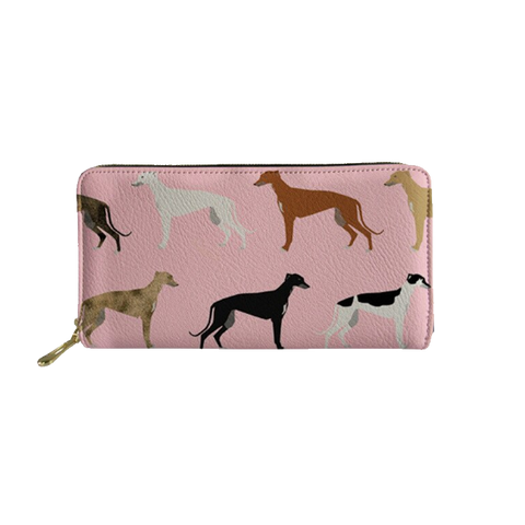 Pink Greyhound Clutch Purse