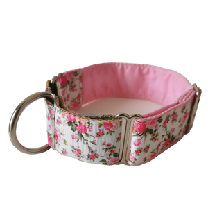 Pink Ditsy Floral Martingale Collar