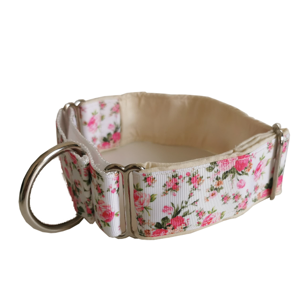 Cream Ditsy Floral Martingale Collar
