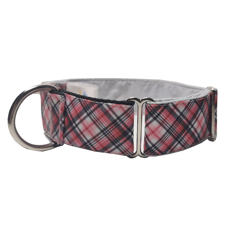 Red & White Check Martingale Collar
