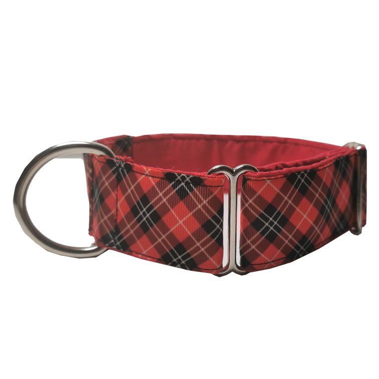 Red Martingale Collar