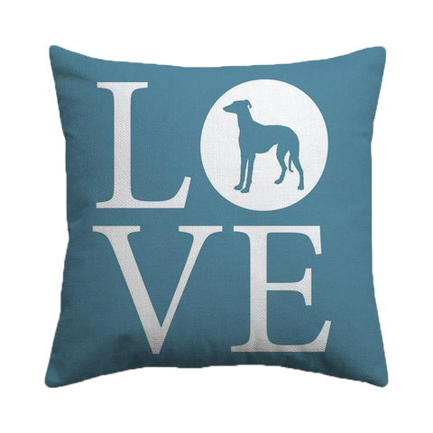Love Greyhounds Cushion