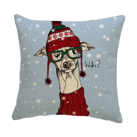 Christmas Sighthound Cushion