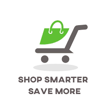 "Clip-art of troller with text saying ""Shop Smarter Save More"""