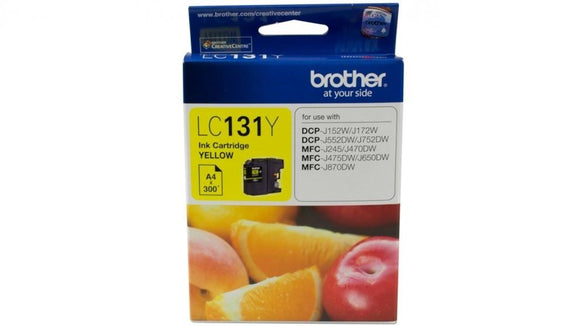 Brother LC-131 Yellow Ink Cartridge - up to 300 pages-Blueprint Toners