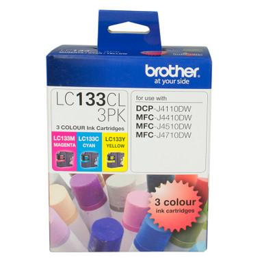 Brother LC-133 CMY Colour Pack - up to 600 pages per colour-Blueprint Toners